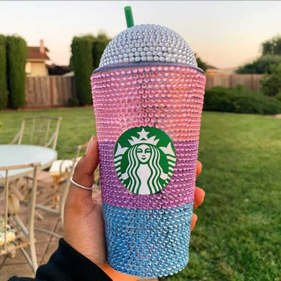 Starbucks Other - Colorful Rhinestone Starbucks Frappuccino Cup